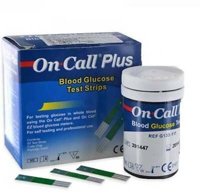 50 ON CALL PLUS DIABETIC TEST STRIPS (EXP Apr. 2020) FREE SHIPPING