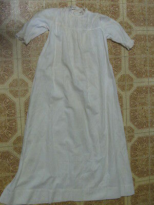 "Antique Christening or Baptismal Gown For Infant or Newborn Baby 31"" Long."