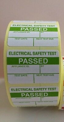 PAT Test Labels 200 PASSED Free P+P