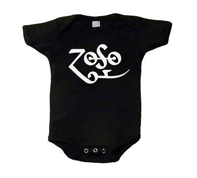 Led Zeppelin T-Shirt Zoso Baby Shirt One Piece Romper Creeper Snap Tee