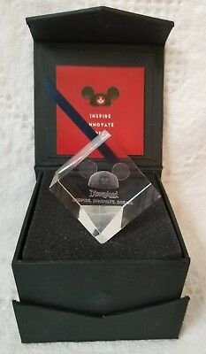 Nib Cast Exclusive Disneyland Inspire Innovate Dream Glass Prism Cube