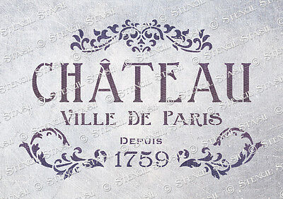 Paris Chateau STENCIL A5 CV Vintage French Chic Furniture etc SUPERIOR 250 MYLAR