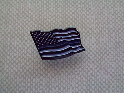 Thin Blue Line U.s. Flag Pin, Tie Tack, Support American Cops, Blue Lives Matter
