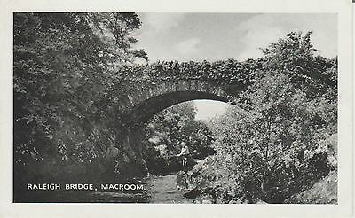 Macroom - Raleigh Bridge - Ireland  Real Photo-  Postcard #