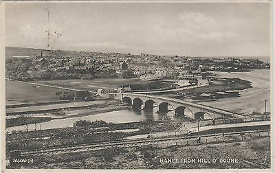 Banff - From Hill O'doune -Real Photo - 193? Postcard #