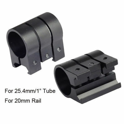 Tactical For Flashlight Torch Scope Picatinny Weaver Rail Mount Sight Ring