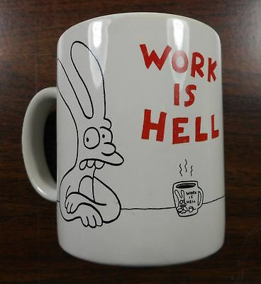 1986 Work is Hell Mug by Matt Groening