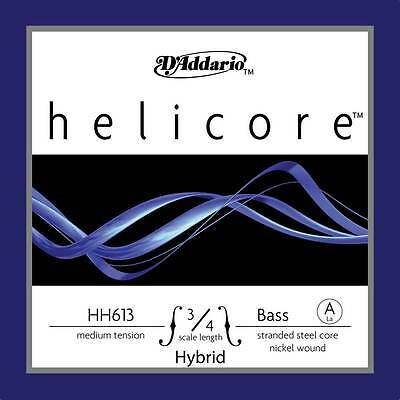 D'Addario Helicore Hybrid Series Double Bass A String 3/4 Size Medium - HH613