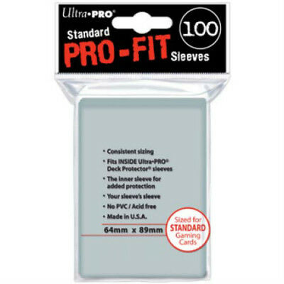 Ultra Pro Standard Pro-Fit Clear MTG Pokemon Deck Protectors