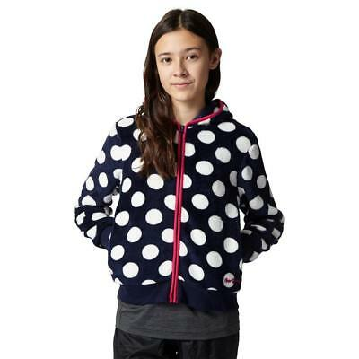 Peter Storm Girls' Dotty Full Zip Fleece Outdoor Clothing Navy