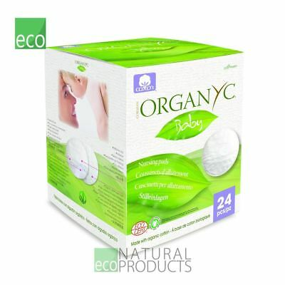 Organyc 100% Organic Cotton Breast Pads 24per pack