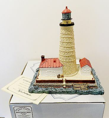 """Harbour Lights , Lighthouse  """" Spectacle Reef , Michigan """"  ,  Nib"""