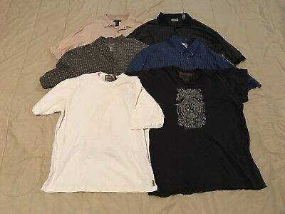 Lot of 6, Men's Variety of Short Sleeve Shirts, Sizes L and XL