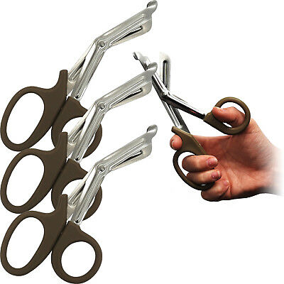 Surgimax Large 18cm Heavy Duty Universal Multi Use Shear Scissors Brown 3 Pack
