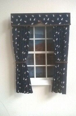 Dolls House Curtains  Christmas Puddings