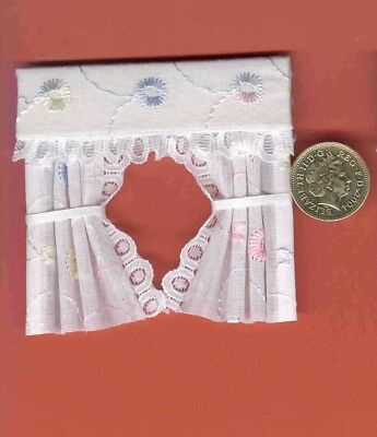 Dolls House Curtains Pretty Broderie Anglaise For Dormer Windows