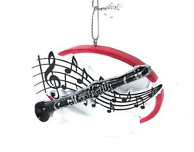 Clarinet w Music Notes Christmas Tree Ornament Midwest CBK You Can Personalize