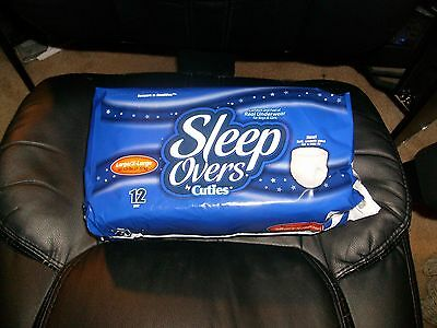 Sleep Overs by Cuties ~ CASE~ 4 PACKS ~  48 TOTAL ~ Large/X-Large 60-125 lbs
