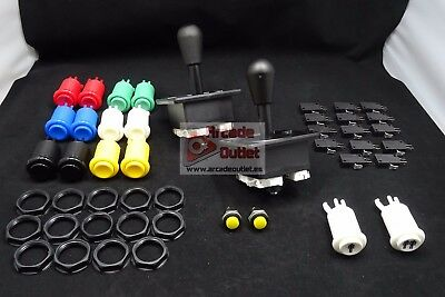 Kit Arcade Joysticks Americanos y 16 botones para tu recreativa