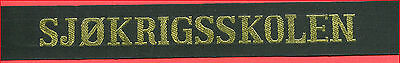 █► Norwegische Marine mützenband Norwegian Navy cap tally hat ribbon (21)
