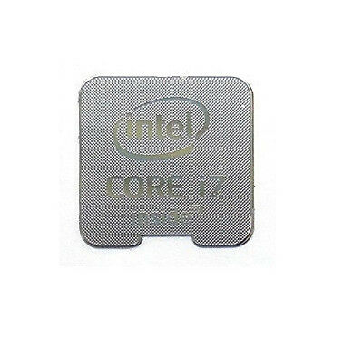 Intel Core i7 Inside Silver 18mm x 18mm Metallic Stickers 7 vinyl 10 8 Windows