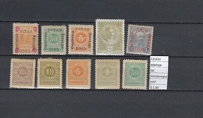 Stamps  Lot  Montenegro  Mh*  (L21324)