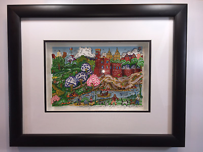 "Fazzino ""Seasonally NYC Suite: Summer""  DX Framed Central Park Belvedere Castle"
