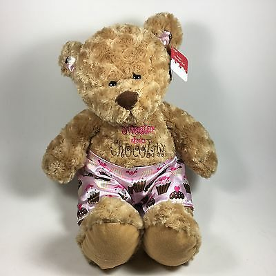 Sweeter Than Chocolate Valentines Plush Bear Cupcake Boxers Stuffed Animal