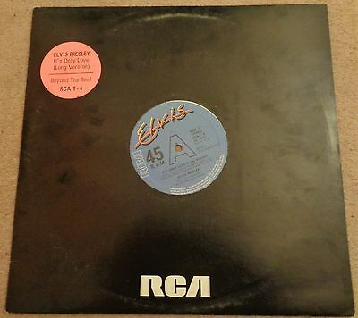 Elvis Presley - It's Only Love (Long Version) 1980 12 inch vinyl single