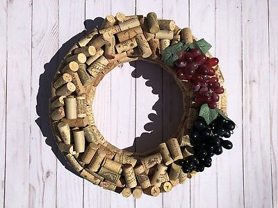 Wine cork wreath Hand Made To Order
