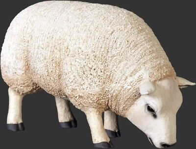 Sheep Texelaar Standing Head Down Resin Statue Farm Display Prop Decor