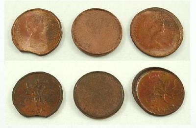 Lot of 3 Canada 1 Cent or Penny Errors and/or Varieties