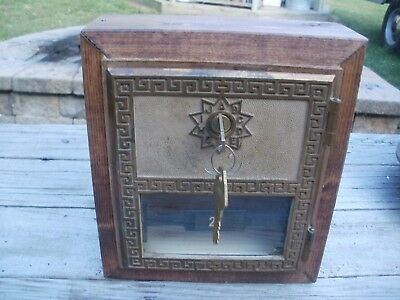 Antique Vintage Post Office Box And Door With Key