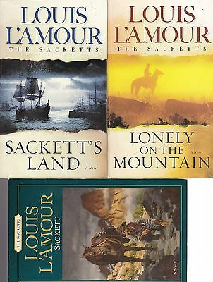Louis L'Amour Novels 3 Sackett, Sackett's Land and Lonely on the Mountain