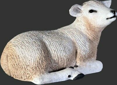 Sheep Texelaar Lamb Laying Resin Statue Farm Animal Display Prop Christmas Decor