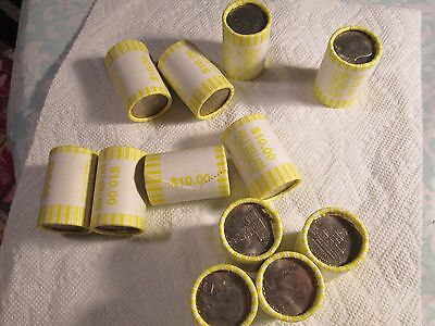 20x Unsearched Kennedy Half Dollar Roll  [ Bicentennial Coins On Each End!!]