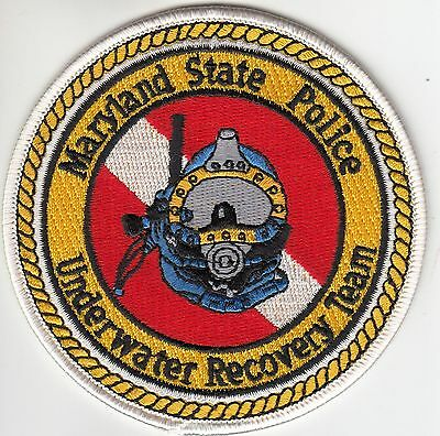 Maryland State Police Underwater Recovery Team Dive Patch Md