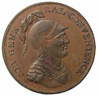 1795 Great Britain Middlesex Social Political Halfpenny Conder Token D&H-1018a