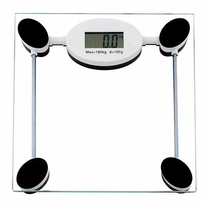 Digital Bathroom Electronic Scale Body Weight Fat Glass Scales Free Post 180KG