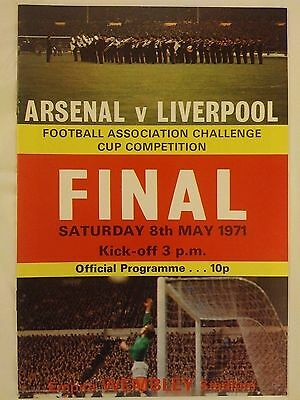 1971 FA Cup Final Arsenal v Liverpool Mint condition Original.