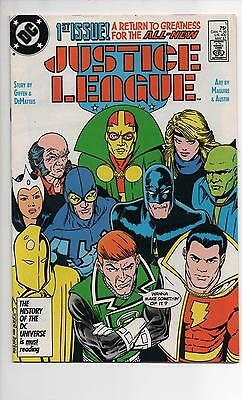 Justice League #1 Vf/nm (1987) 1St Appearance Maxwell Lord Supergirl Tv Show!