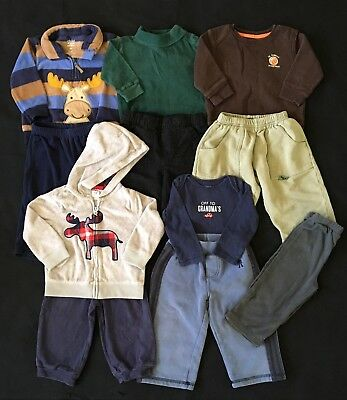 Baby Boy Fall Winter Clothes Size 12 Months - 11 Pieces Charlie Rocket Carter's
