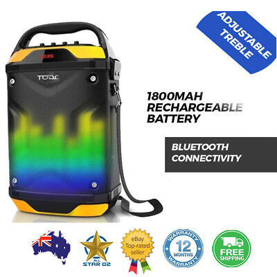 Bluetooth Portable PA Speaker w/ Mic Input and Rechargeable Battery Todo