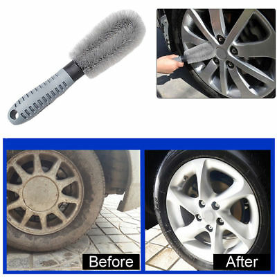 1pc Car Motorcycle Bike Wheel Tire Rim Cleaning Brush Washing Hand Hold Tool
