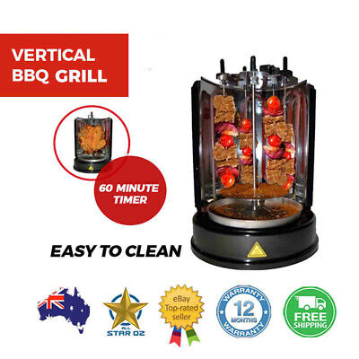 Kebab and Shawarma Grill Vertical Rotating Barbeque BBQ Skewers Stick