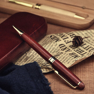 Personalized Engraved Maple Wood Rosewood Ball Pen & Case Set Custom Friend Gift