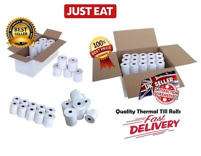 Just Eat Compatible Thermal Till Rolls (57x40) Quality Receipt Paper Box of 20