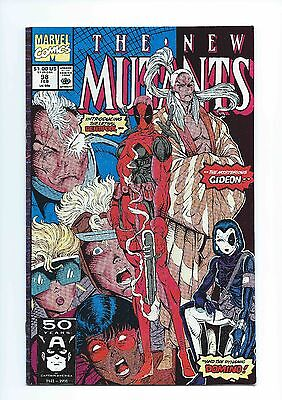 Marvel The New Mutants 98 Deadpool First 1st Appearance Key NM Hi Res Scans