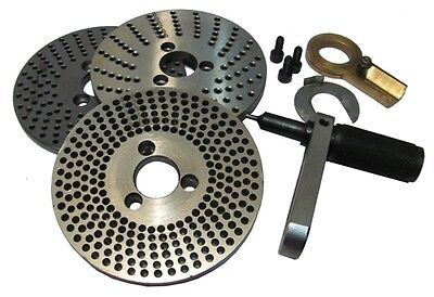 """Indexing Plates set of 3 plates Used for Rotary Table 4"""" HV4 and HV6 150mm / 6"""""""
