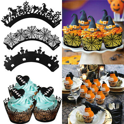 12pcs Halloween Paper Cake Muffin Cupcake Baking Cups Liners Party Decoration